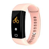 Умный фитнес браслет Lemfo F07 с тонометром c пульсоксиметром (Розовый)