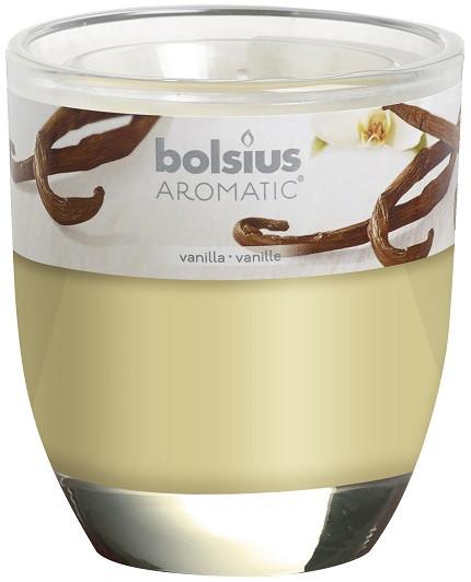 Свеча ваниль ароматическая в стекле Bolsius (72-67Б VAN)