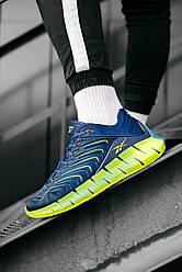 Мужские кроссовки Reebok Zig Kinetica Conor McGregor (голубые)