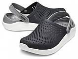 Кроксы женские Crocs LiteRide™ Clog черно-серые 36 р., фото 4