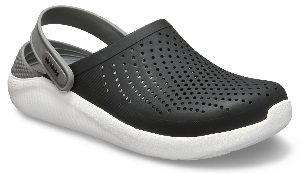 Кроксы женские Crocs LiteRide™ Clog черно-серые 36 р.