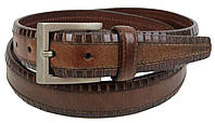Женский кожаный ремень Farnese, Италия коричневый SFA782, фото 1