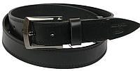 Кожаный ремень Skipper 130x3.8 см Черный (1077-38), фото 1