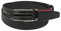 Мужской кожаный ремень под брюки Skipper 1084-35 черный ДхШ: 131х3,5 см., фото 1