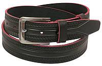 Мужской кожаный ремень под джинсы Skipper 1127-38 коричневый ДхШ: 128х3,8 см., фото 1