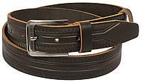 Мужской кожаный ремень под джинсы Skipper 1137-38 коричневый ДхШ: 128х3,8 см., фото 1