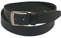 Мужской кожаный ремень под джинсы Skipper 1089-38 черный ДхШ: 123х3,8 см., фото 1