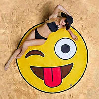 Подстилка для пляжа Мандала Смайлик 150 см Пляжные коврики в Украине