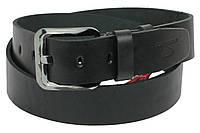 Мужской кожаный ремень под джинсы Skipper 1164-45 черный ДхШ: 133х4,5 см., фото 1
