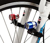 Вело ліхтар габарит міні на вилку велосипеда 6 led з кріпленням, фото 1