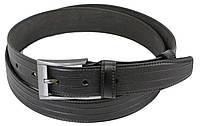 Мужской кожаный ремень под брюки Skipper 1250-35 черный 3,5 см, фото 1