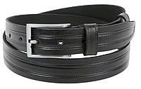 Мужской кожаный ремень под брюки Skipper 1251-33 черный 3,3 см, фото 1