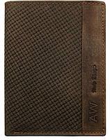 Вертикальное портмоне из натуральной кожи Always Wild коричневое, фото 1