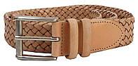 Женский плетеный кожаный ремень Farnese, Италия, бежевый, фото 1