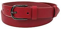 Женский кожаный ремень, пояс Skipper, красный 3 см, фото 1
