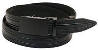 Мужской кожаный ремень под брюки Skipper 1043-35 черный ДхШ: 130х3,5 см., фото 1
