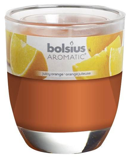 Свічка апельсин ароматична у склі Bolsius (72-63Б ORA)