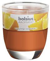 Свеча апельсин ароматическая в стекле Bolsius (72-63Б ORA)