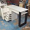 Стол для маникюра с ящиком каргор, 4 выдвижными ящиками и опорой черного цвета, фото 4