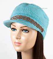 Теплая женская кепка Камри бирюза