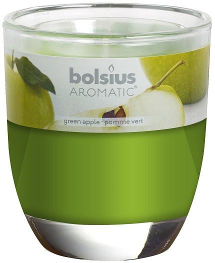 Свічка яблуко ароматична у склі Bolsius (72-91Б GAP)