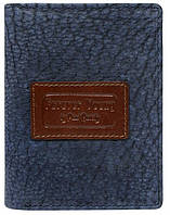 Мужское винтажное портмоне из кожи ALWAYS WILD синее, фото 1