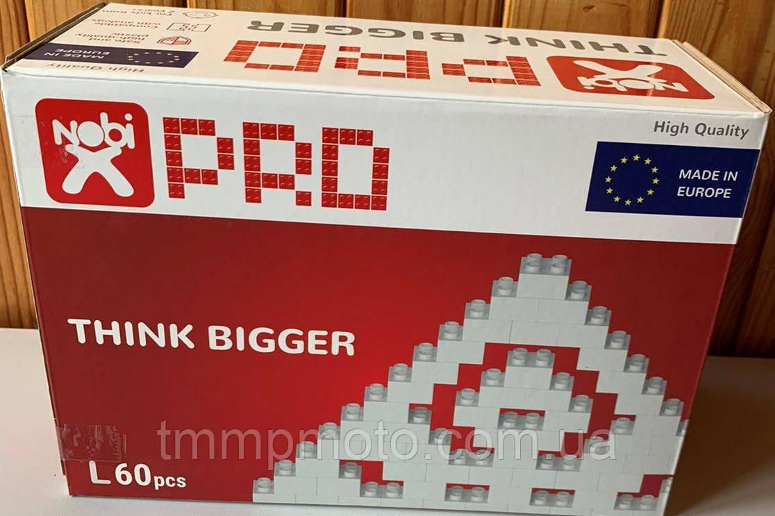 Конструктор-кубики NOBI PRO L 60 деталей белый (Европа)