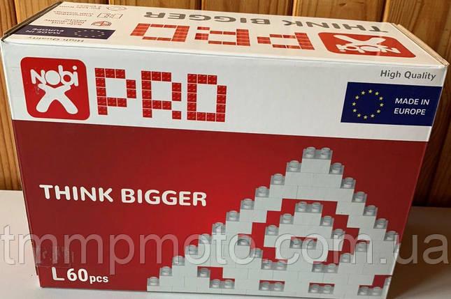 Конструктор-кубики NOBI PRO L 60 деталей белый (Европа), фото 2