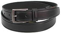 Мужской кожаный ремень под брюки Skipper 1291-35 черный, фото 1