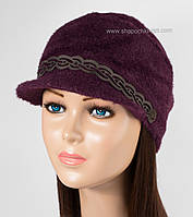 Теплая кепка для женщин Камри бордо