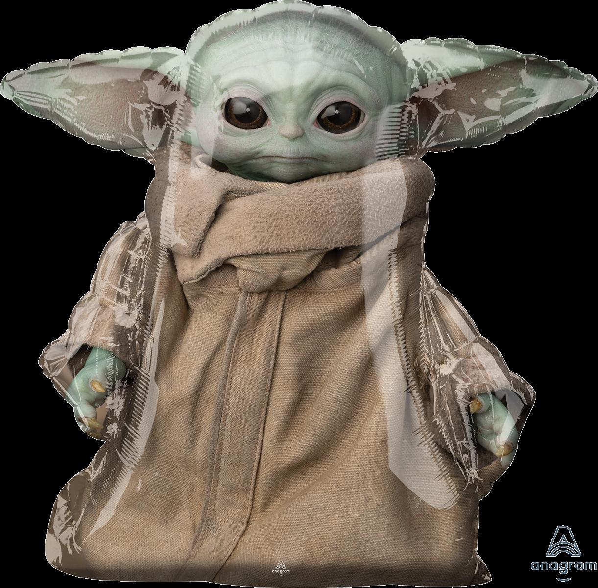 """A 31"""" Ходячка Star Wars Mandalorian Child Airwalker. Фольгированный шар Йода из Звездных войн, В УП"""