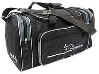 Спортивная сумка 23 л Wallaby, Украина 270-4 черная с серым, фото 1
