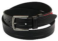 Мужской кожаный ремень под брюки Skipper 1006-35 черный ДхШ: 121х3,5 см., фото 1