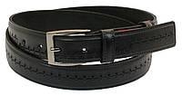 Мужской кожаный ремень под брюки Skipper 1048-35 черный ДхШ: 132х3,5 см., фото 1