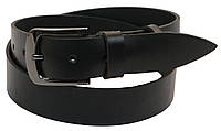 Мужской кожаный ремень под джинсы Skipper 1037-38 черный ДхШ: 121х3,8 см., фото 1