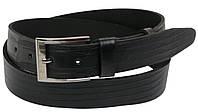 Мужской кожаный ремень под джинсы Skipper 1105-38 черный ДхШ: 134х3,8 см., фото 1