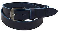 Мужской кожаный ремень под джинсы Skipper 1088-38 синий ДхШ: 127х3,8 см., фото 1