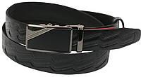 Мужской кожаный ремень под брюки Skipper 1079-35 черный ДхШ: 132х3,5 см., фото 1