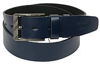 Мужской кожаный ремень под джинсы Skipper 1169-45 синий ДхШ: 130х4,5 см., фото 1