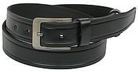 Мужской кожаный ремень под джинсы Skipper 1196-38 черный ДхШ: 127х3,8 см., фото 1