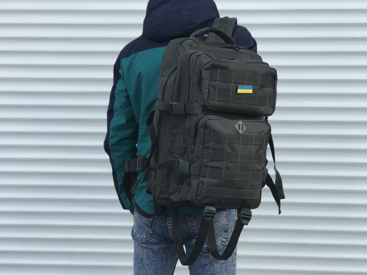 Тактичный камуфляжный рюкзак на 45 литров, хаки