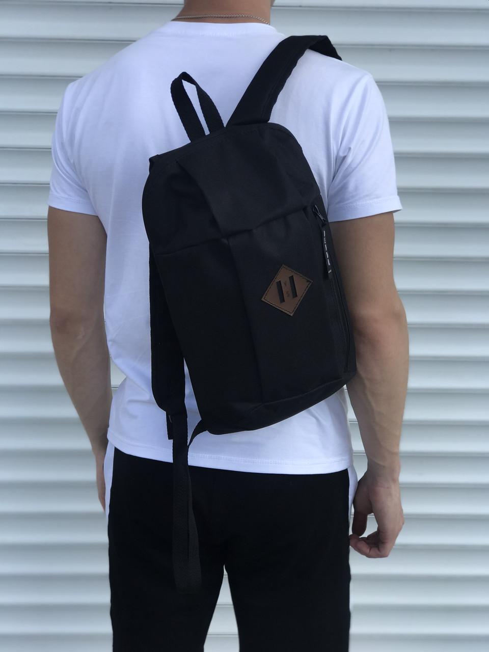 Черный спортивный рюкзак, унисекс