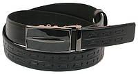 Мужской кожаный ремень под брюки Skipper 1067-35 черный ДхШ: 125х3,5 см., фото 1