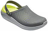 Мужские кроксы Crocs LiteRide™ Clog серо-салатовые 42 р., фото 4