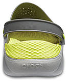 Мужские кроксы Crocs LiteRide™ Clog серо-салатовые 42 р., фото 5