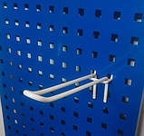 Торговий крючок 200мм крок 50мм подвійний на перфорований метал - 10шт, фото 3