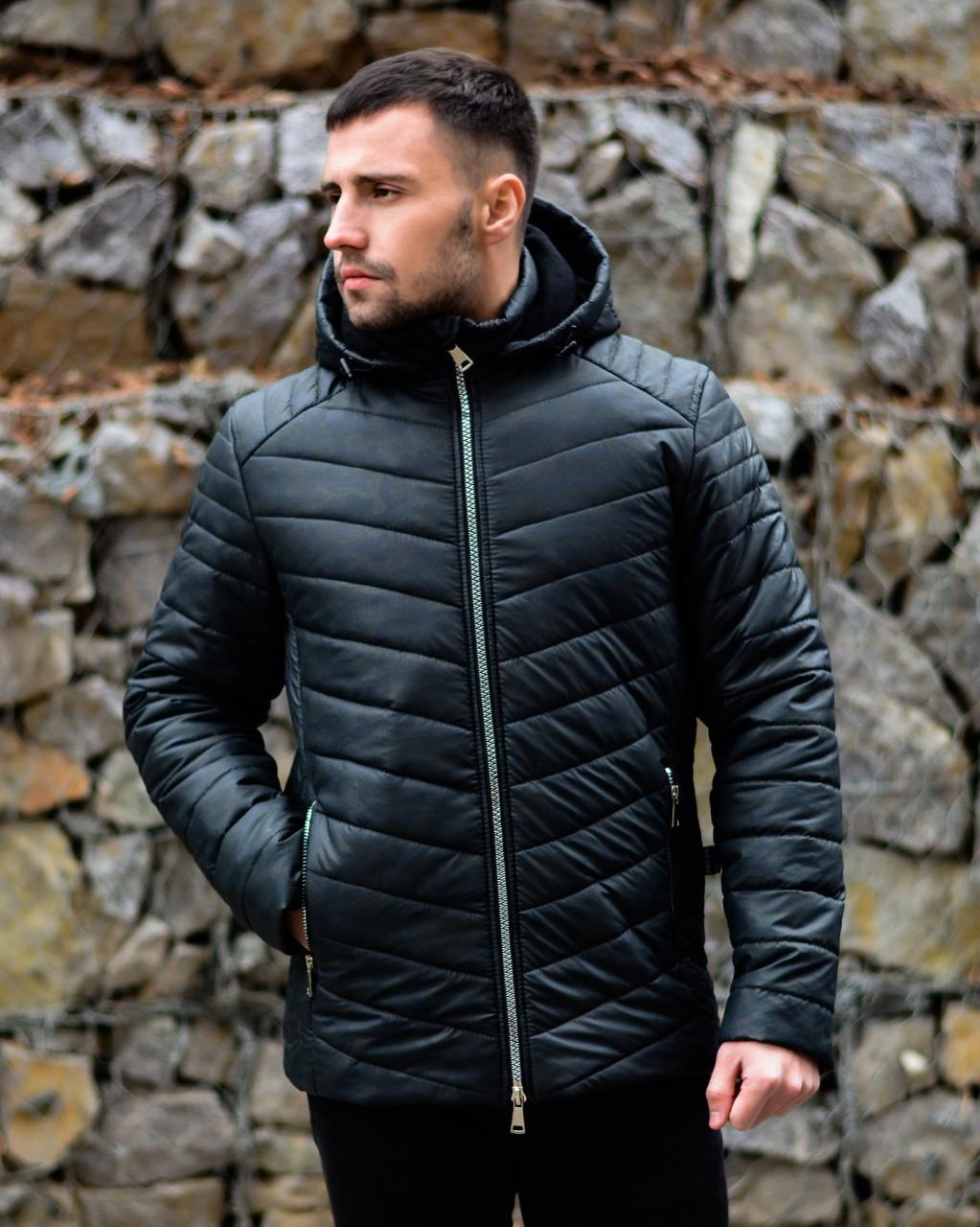 Куртка мужская зимняя Grey теплая флис