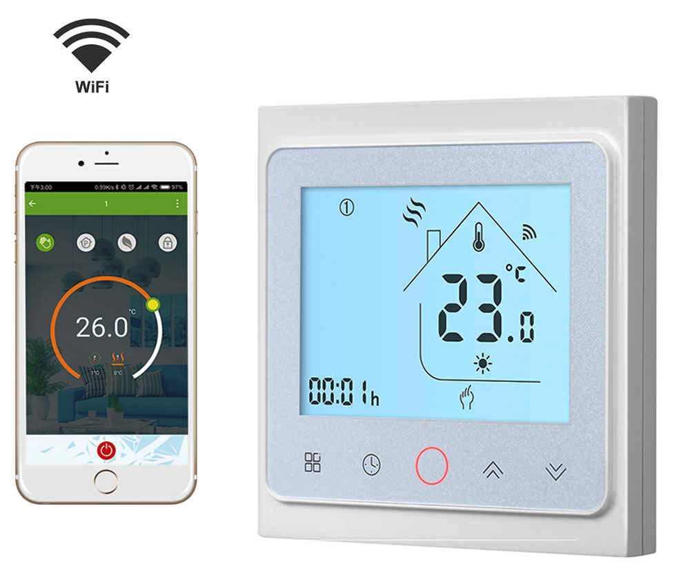 Терморегулятор Heat Plus BHT 002 GCLW white (белый) с Wi-Fi для газового котла