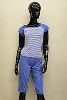 Женская пижама (футболка и капри) из хлопка Ego