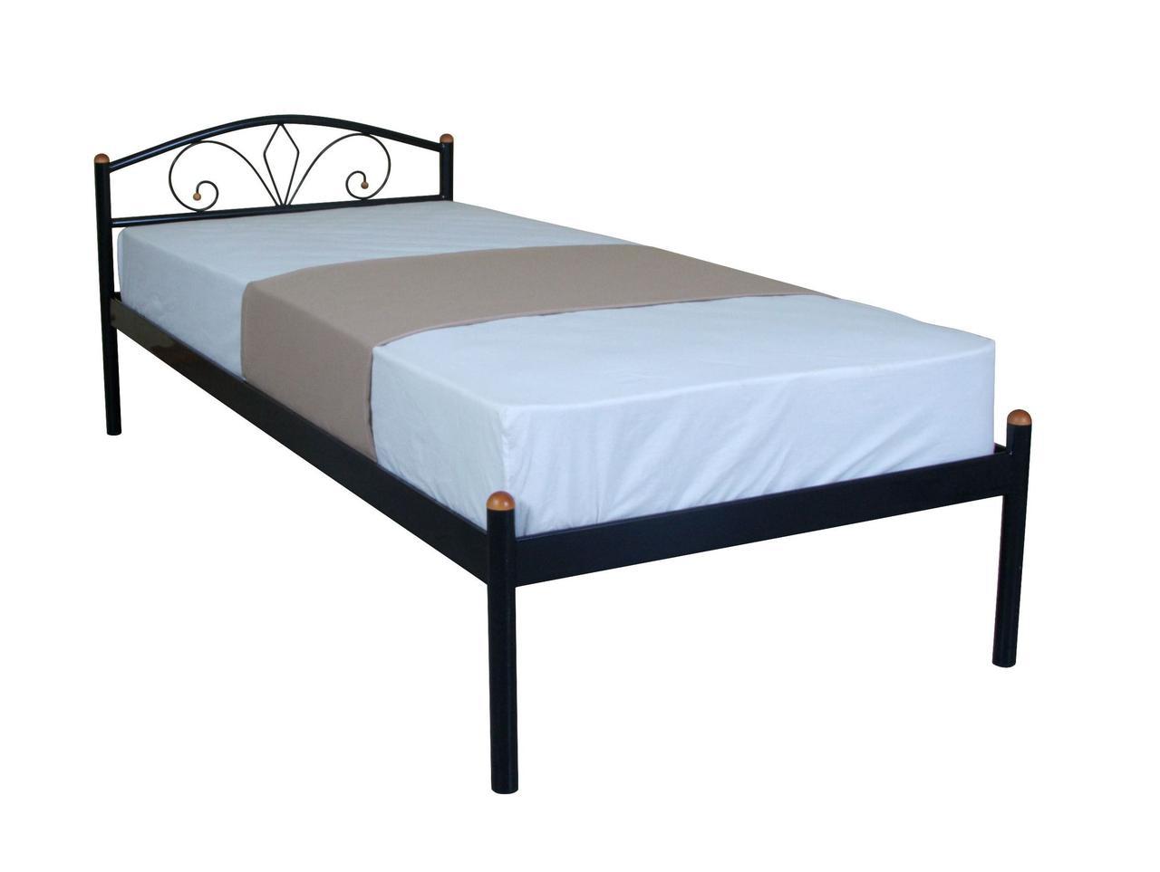 Металлическая кровать 90х200 NERO black ТМ EAGLE